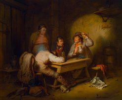 The Village Politicians | Josef Franz Danhauser | Oil Painting