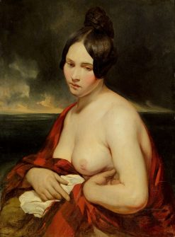Woman by the Sea | Josef Franz Danhauser | Oil Painting