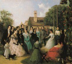 Playing in the Garden   Franz von Alt   Oil Painting