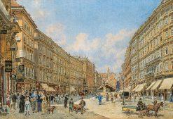 The Graben in Vienna   Franz von Alt   Oil Painting