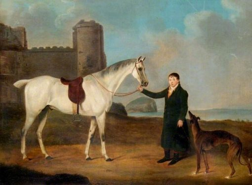 Man With a Horse and a Greyhound | John Nost Sartorius | Oil Painting
