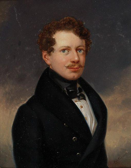 Portrait of a Gentleman | Leopold Fertbauer | Oil Painting