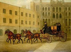 The Dress Chariot of Sheriff of the City of London in the Courtyard of the Guildhall