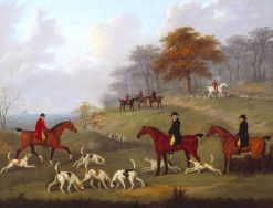 The Earl of Darlington Fox-Hunting with the Raby Pack -  Drawing Cover | John Nost Sartorius | Oil Painting