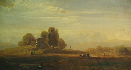 Pastoral Landscape with Chapel | August Seidel | Oil Painting