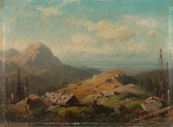 Mountain landscape with alpine pasture | August Seidel | Oil Painting