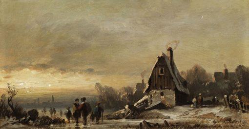Winter Landscape | August Seidel | Oil Painting