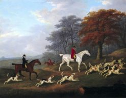 The Earl of Darlington Fox-Hunting with the Raby Pack -  Going to Cover | John Nost Sartorius | Oil Painting