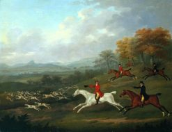 The Earl of Darlington Fox-Hunting with the Raby Pack -  Full Cry | John Nost Sartorius | Oil Painting