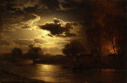 Moonlight   Louis Douzette   Oil Painting