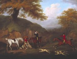 The Earl of Darlington Fox-Hunting with the Raby Pack -  The Death | John Nost Sartorius | Oil Painting