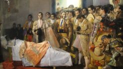 The Death of the Master | Jose Villegas y Cordero | Oil Painting