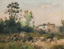 Landscape with houses | Jose Franco Cordero | Oil Painting