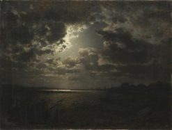 Moonlit night in Pomerania | Louis Douzette | Oil Painting