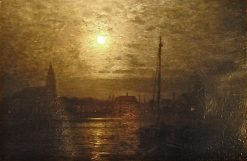 Barth in the Moonlight | Louis Douzette | Oil Painting