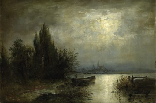 Moonlit Night | Louis Douzette | Oil Painting