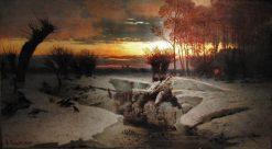 Winter Evening | Louis Douzette | Oil Painting
