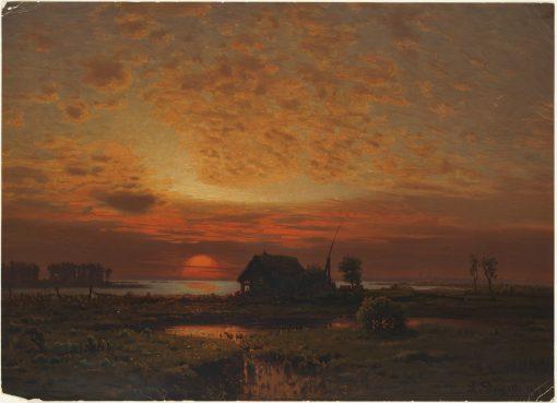 Sunset | Louis Douzette | Oil Painting