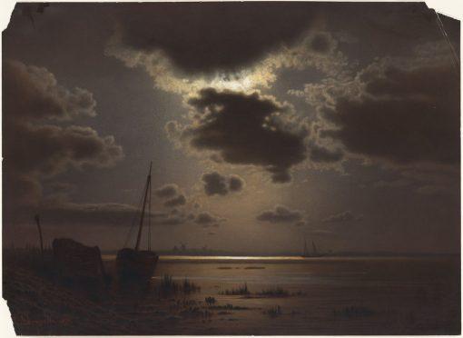 Lanscape with Sunset | Louis Douzette | Oil Painting