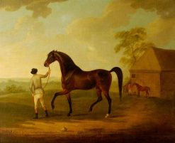 The Racehorse Turf Led by a Groom | John Nost Sartorius | Oil Painting