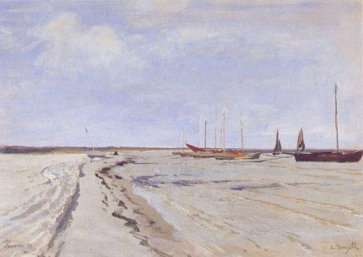 Coastal landscape near Prerow   Louis Douzette   Oil Painting