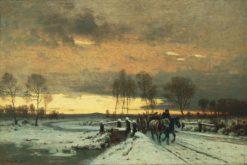 Winter Landscape | Louis Douzette | Oil Painting
