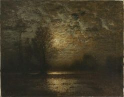 Moonlit Night | Louis Douzette | Oil Painting