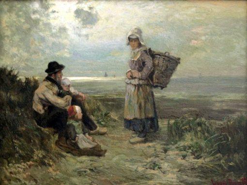By th Sea | Louis Douzette | Oil Painting