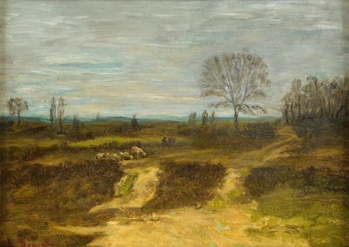 Autumnal Landscape   Louis Douzette   Oil Painting