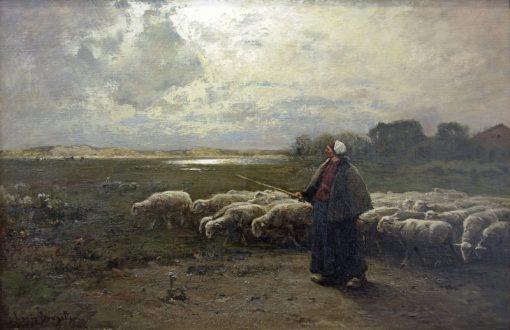 The Shepherd Girl | Louis Douzette | Oil Painting