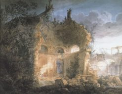 Rotunda of the Bank of England in Ruins   Joseph Michael Gandy   Oil Painting