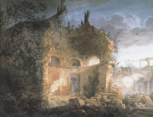 Rotunda of the Bank of England in Ruins | Joseph Michael Gandy | Oil Painting