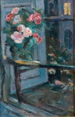 Bouquet De Fleurs Devant Le Fenetre | Constantin Alexeevich Korovin | Oil Painting