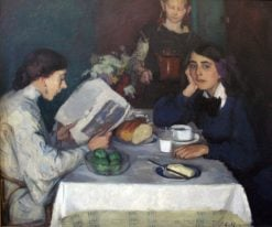 At the Breakfast Table | Leo von Koenig | Oil Painting