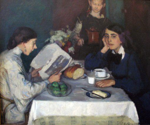 At the Breakfast Table | Leo von Koenig | Oil Painting
