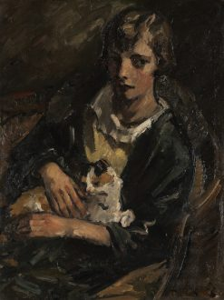 Young Woman with Cat | Leo von Koenig | Oil Painting