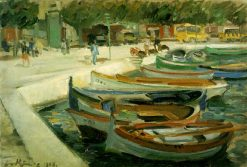 Harbor in Rapallo | Leo von Koenig | Oil Painting