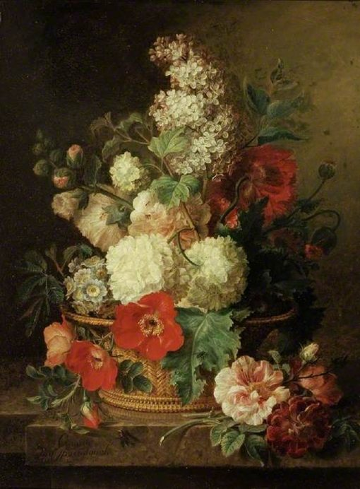 A Basket of Flowers | Cornelis van Spaendonck | Oil Painting
