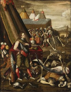 The Allegory of War   Antoine Caron   Oil Painting