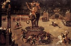 Merry-go-round with Elephant | Antoine Caron | Oil Painting
