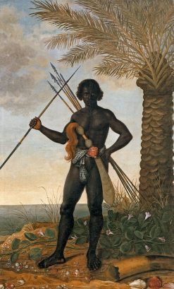 African warrior at the time of Ganga Zumba