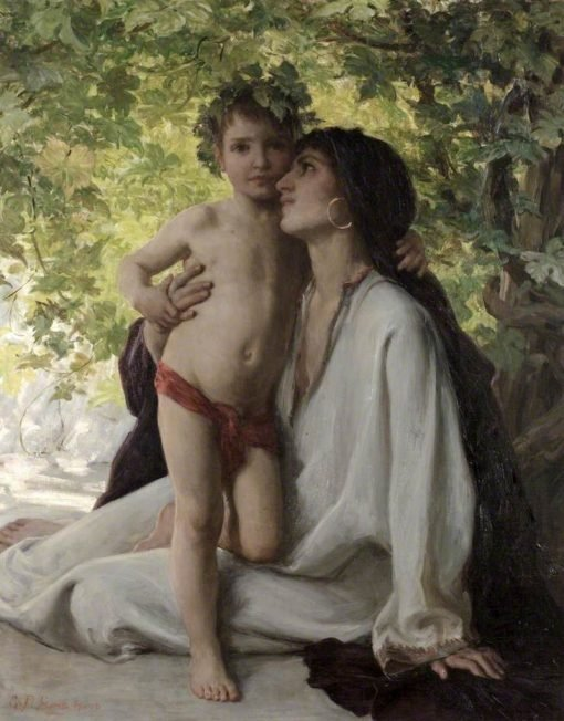 Mother and Child | George Percy Jacomb-Hood | Oil Painting