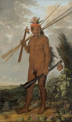 Brazilian Indian Warrior | Albert Eckhout | Oil Painting