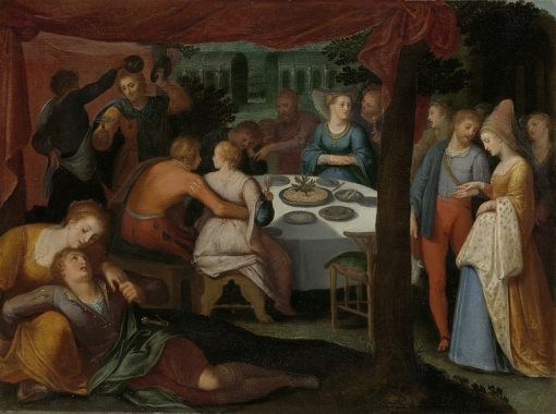 A Dinner in the Forest | Otto van Veen | Oil Painting