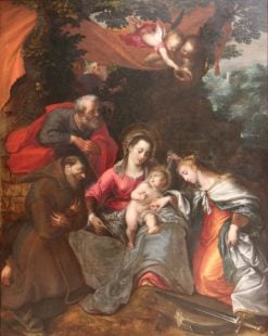The mystical marriage of Saint Catherine | Otto van Veen | Oil Painting