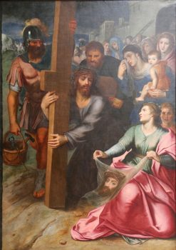 The meeting of Christ and St. Veronica | Otto van Veen | Oil Painting