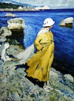 The Seashore. Alupka | Sergei Arsenevich Vinogradov | Oil Painting