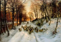 Through the Calm and Frosty Air | Joseph Farquharson | Oil Painting
