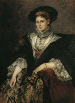 Portrait of Bertha von Piloty | Hans Makart | Oil Painting