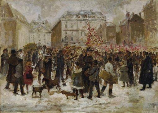 Christmas Market in Vienna | Ernst Juch | Oil Painting